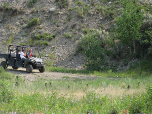 Off road vehicle fun near Jackson Hole