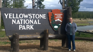 sara at yellowstone