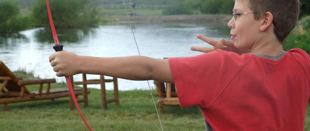 Jackson Hole kids camp activities at Goosewing Ranch include archery