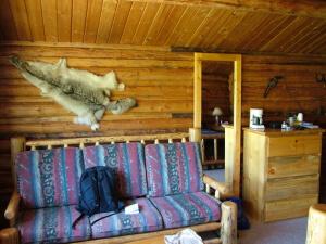 Goosewing Ranch Trapper cabin interior