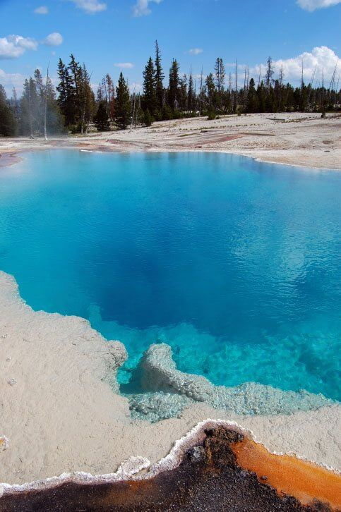 Black Pool Hot Spring in Yellowstone National Park