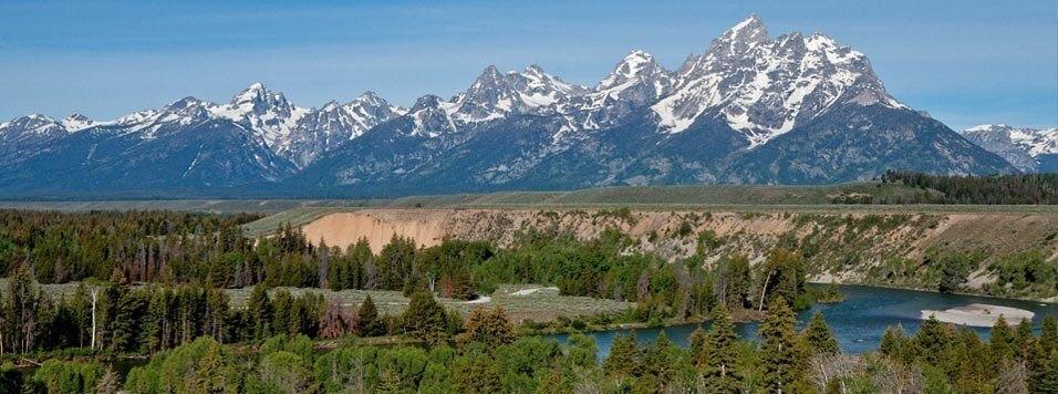 Grand Teton Mountains and Snake River