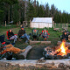 Fun around the campfire at one of our pack trips