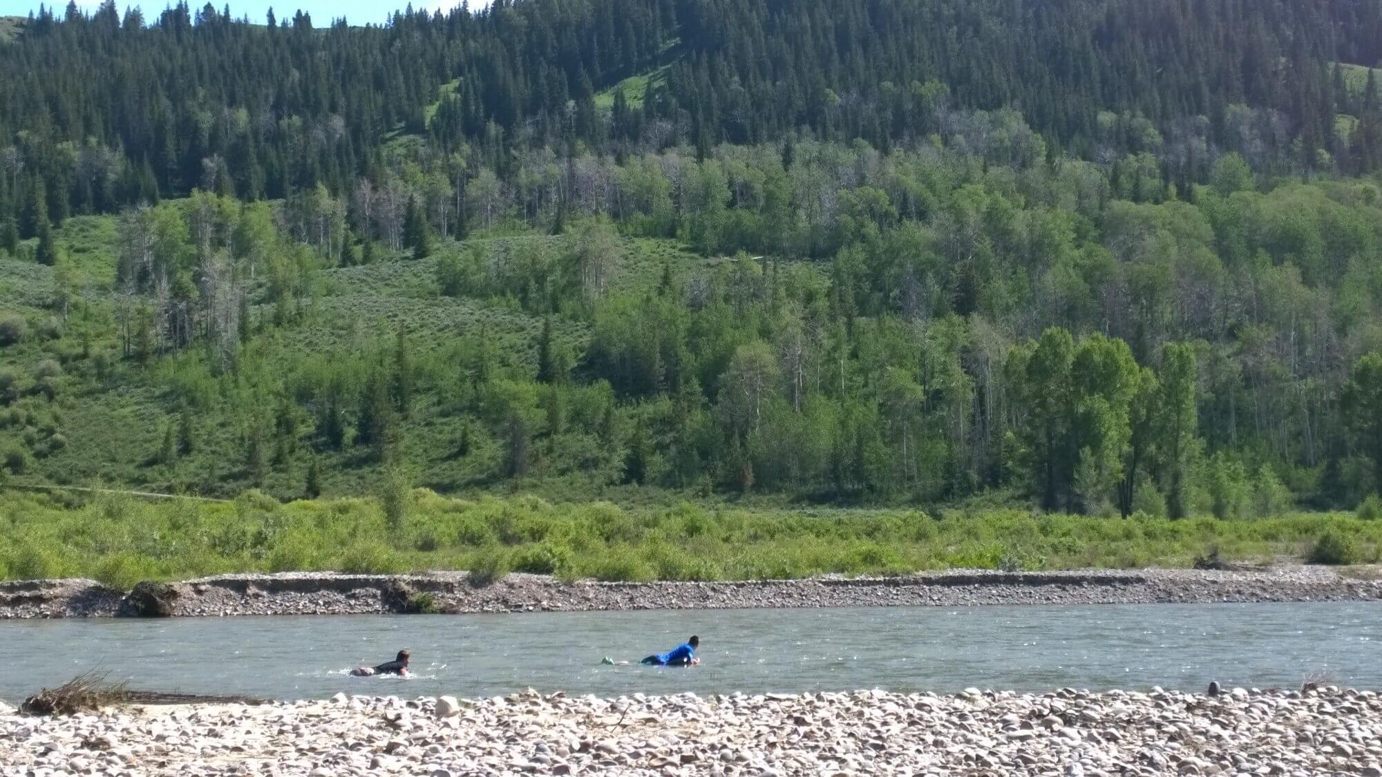 Did you know that tubing the Gros Ventre River is an adventure and something you should pack prepared for using our dude ranch packing list?