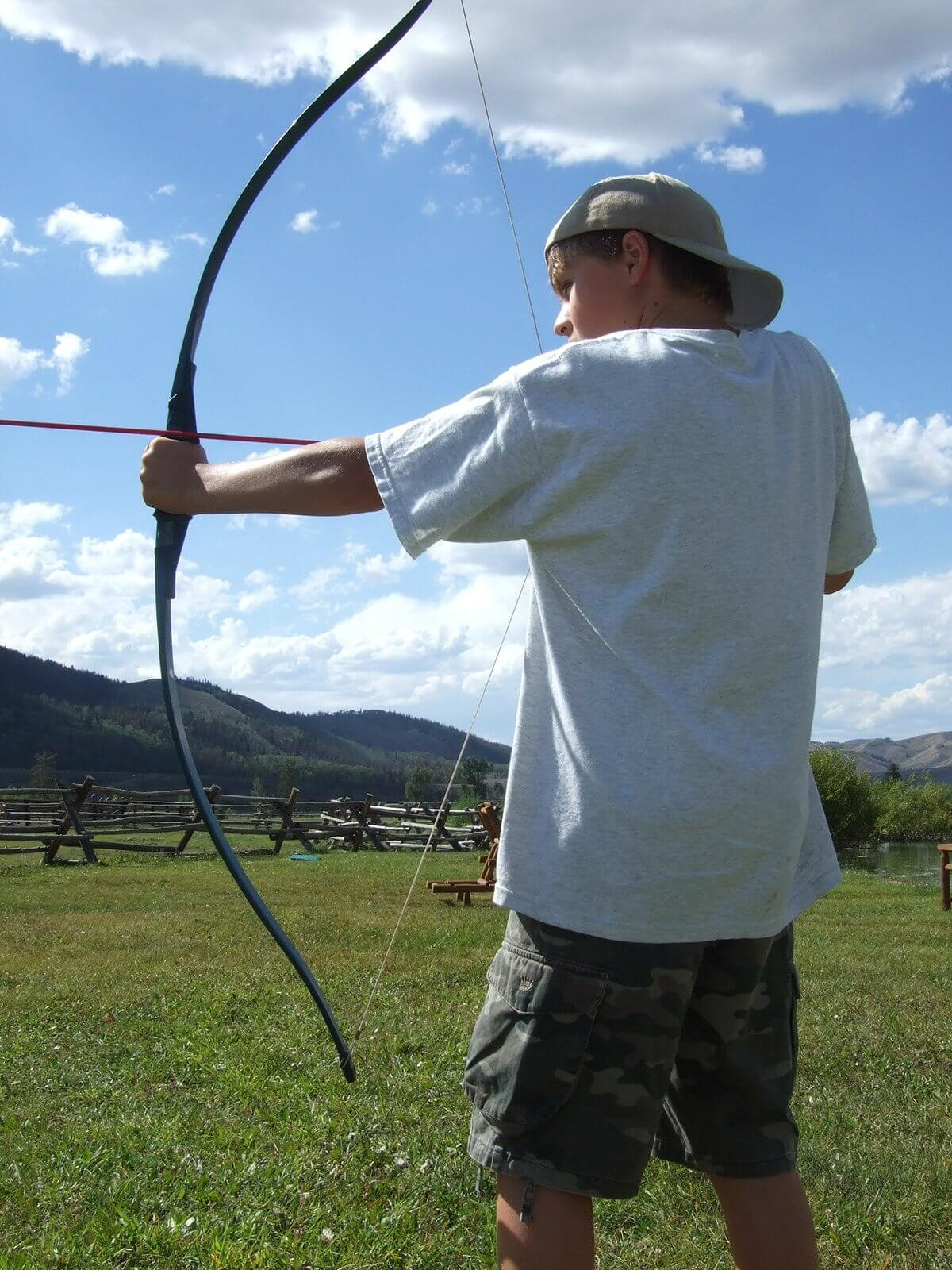Jackson Hole kids camp activities at our dude ranch include archery