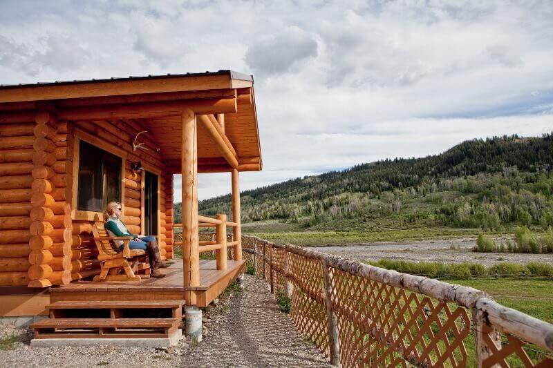 Jackson Hole, Wyoming is home to Jackson and also places on the road less traveled by such as Goosewing Ranch. Views from one of our cabins.