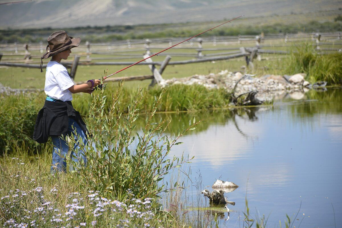 Fishing is one of the best family activities whether at Goosewing Ranch or on the Snake River during your stay in Jackson Hole.