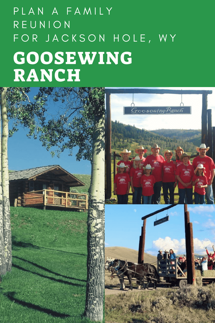 Family reunions are wonderful ways to reunite and have travel adventures. A multi-generational trip to Goosewing Ranch in Jackson Hole, Wyoming will allow your family to disconnect from daily distractions and reconnect as a family. Here's how we can help you plan and pull off a family reunion and make memories to boot. #duderanch #familyreunion #JacksonHole #Wyoming #GoosewingRanch #multigenerational