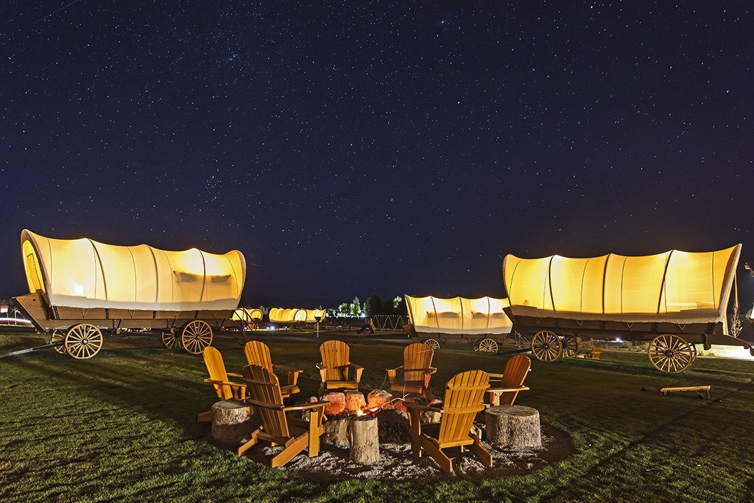 Western stars, Goosewing Glamping wagon circle