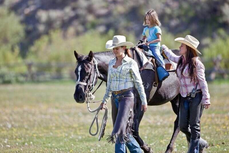 Jackson Hole horseback riding is available for little buckaroos ages 6 and up at Goosewing Ranch.
