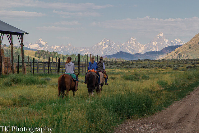 Check out these views of the Grand Tetons from Goosewing Ranch's trail ride and think of it as one of 8 Reasons to Take a Dude Ranch Vacation.