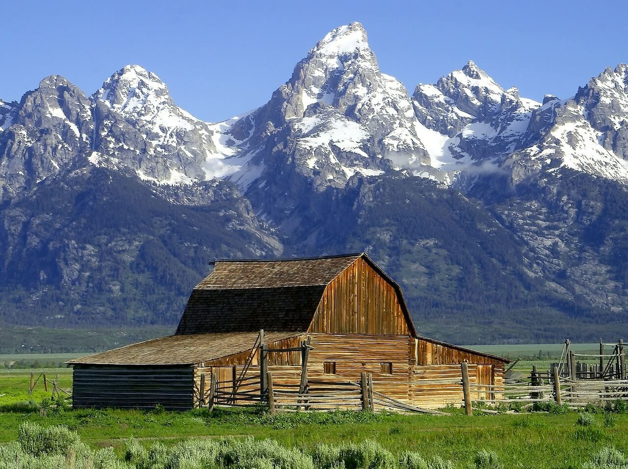 Moulton Barn is one of the most majestic views, placing it on our Jackson Hole must see spots list.