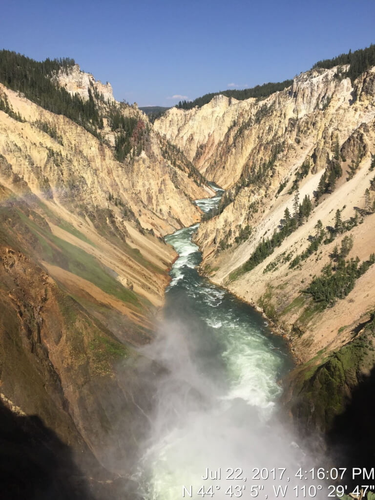Yellowstone tips include heading to Artist Point to take in views of the Grand Canyon of the Yellowstone.